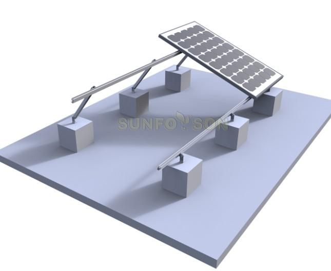 Sistema De Montaje Solar De Techo Plano Personalizado