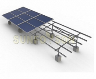 Galvanizing steel solar ground mounting support