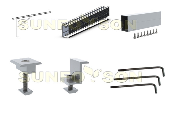 commercial solar carport system mounting racks