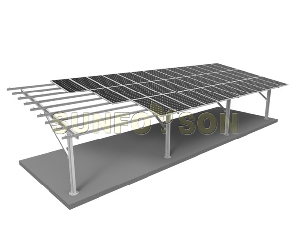 solar carport system mounting structure