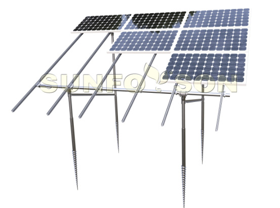 solar power mounting structures for panel installation