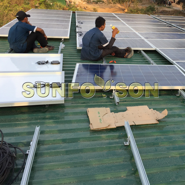 solar tin roof mounting system
