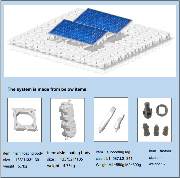 solar floating mounting system