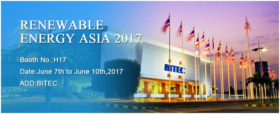 The annual show of Renewable Energy Asia Bangkok 2017 is around the corner
