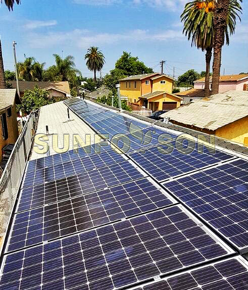 Sunforson Solar Mounting System Apply to California Residential Shingle Rooftop