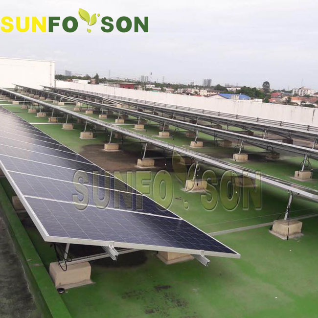 SunRack Solar Mounting Installation for 50kw Solar System in Thailand